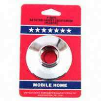 United States Hardware P-597C Chrome Plastic Escutcheon