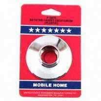 United States Hardware P-597C Chrome Plastic Escutcheon