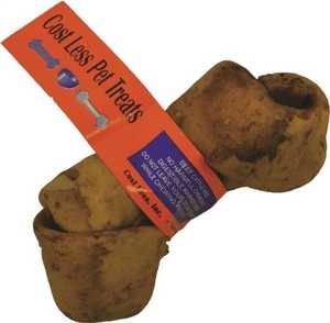 COST LESS PET TREATS 9016-24 Rawhide Knot, Peanut Butter
