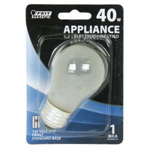Feit Electric BP40A15 40 Watt Incandescent Medium Base Appliance Bulb, Frost