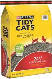Nestle Purina Petcare C 7023010720 Tidy Cats 24/7 Performance Non-Clumping Clay Litter 20-Pound