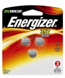 Energizer Battery 357BPZ-3 Watch Battery 357