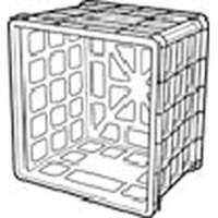 Sterilite 16929006 Black Storage Milk Crate