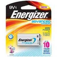 Energizer Battery LA522SBP Advance Lithium 9v