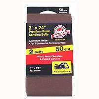 Ali Industries 3157 3x24 in 50grit Aluminum Ox Belt 2pk