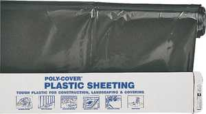 Lbm Poly 4X20-B 20x100 ft 4mil Black Poly Film