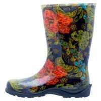Sloggers 4272662 Tall Boot Black Print Size 10