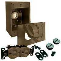 Bell Weatherproof 5839-7 Duplex Recpt/Cover Kit Bronze