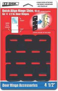 Ez Shim Incorporated HS450BP Quick Align Hinge Shim Black 4-1/2 In