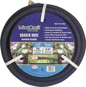 MintCraft 7085020 Garden Soaker Hose 5/8-Inch X 50-Foot