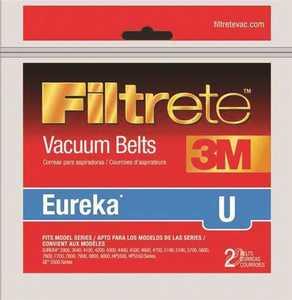3M 67312A-12 Filtrete Eureka Type U Vacuum Cleaner Belts, 2-Pack