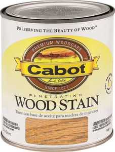 Cabot 8137 Interior Penetrating Wood Stain Flat Dark Walnut