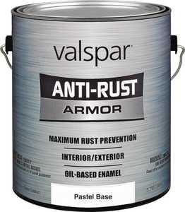 Valspar 21805 Armor Anti-Rust Oil Based Enamel Paint Gloss Pastel Base 1 Gal