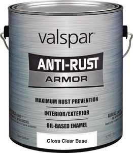 Valspar 21829 Armor Anti-Rust Oil Based Enamel Paint Gloss Clear Base 1 Gal