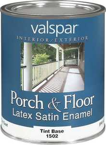 Valspar 1502 Porch and Floor Interior/Exterior Latex Paint Satin Tint Base 1 Qt