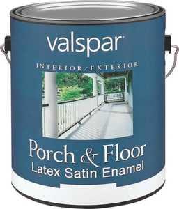 Valspar 1534 Porch and Floor Interior/Exterior Latex Paint Satin Dark Gray 1 Gal