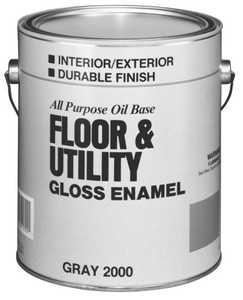 Valspar 2000 Interior/Exterior Floor And Utility Enamel Paint Gray