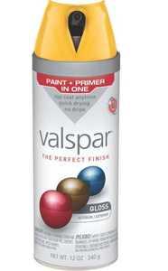 Valspar 85010 Twist And Spray Interior/Exterior Multi-Surface Enamel Spray Paint Gold Abundance Gloss Finish 12-Ounce Can