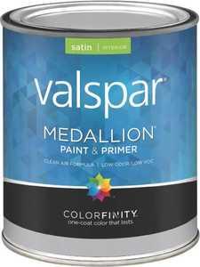 Valspar 3405 Medallion Interior Latex Paint Satin Clear Base 1 Qt