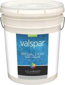Valspar 3408 Medallion Interior Latex Paint Satin Pastel Base 5 Gal