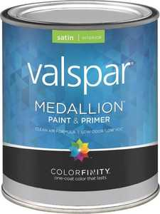 Valspar 3408 Medallion Interior Latex Paint Satin Pastel Base 1 Qt
