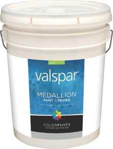 Valspar 3400 Medallion Interior Latex Paint Satin White 5 Gal