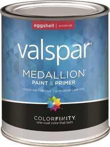 Valspar 4408 Medallion Latex Paint & Primer Eggshell Pastel Base Qt