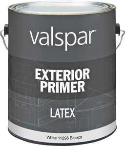 Valspar 11298 Exterior Latex Primer White 1 Gal