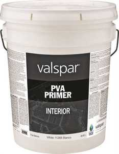 Valspar 11288 Professional General Purpose Interior Pva Primer White 5 Gal