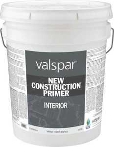 Valspar 11287 New Construction Interior Primer White 5 Gal