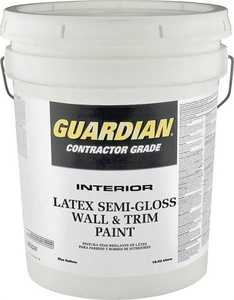 Valspar 457 Guardian Interior Latex Wall And Trim Paint Dover White Semi-Gloss Finish 5 Gal
