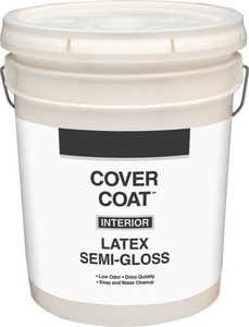 Valspar 456 Cover Coat Interior Latex Paint Semi-Gloss Antique White 5 Gal