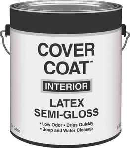 Valspar 456 Cover Coat Interior Latex Paint Semi-Gloss Antique White 1 Gal