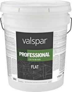 Valspar 12600 Professional Exterior Latex Paint Flat White 5 Gal