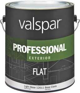 Valspar 12611 Professional Exterior Latex Paint Flat Light Base 1 Gal