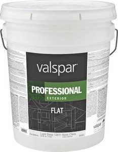 Valspar 12611 Professional Exterior Latex Paint Flat Light Base 5 Gal