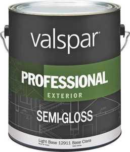 Valspar 12911 Professional Exterior Latex Paint Semi-Gloss Light Base 1 Gal