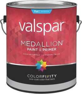 Valspar 45501 Medallion Latex Paint Flat White 1 Gal