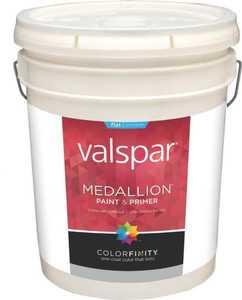 Valspar 45501 Medallion Latex Paint Flat White 5 Gal