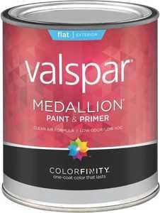 Valspar 45505 Medallion Latex Paint Flat Clear Base 1 Qt