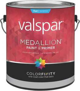 Valspar 45505 Medallion Latex Paint Flat Clear Base 1 Gal