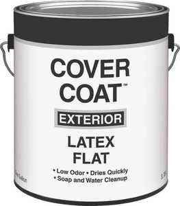 Valspar 555 Cover Coat Contactor Grade Latex Paint, 1 Gal , 350 - 400 Sq-Ft/Gal, White, Flat