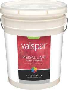 Valspar 4108 Medallion Exterior Latex Paint Satin Pastel Base 5 Gal