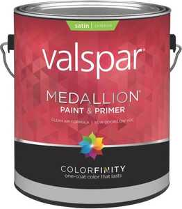 Valspar 4105 Medallion Exterior Latex Paint Satin Clear Base 1 Gal