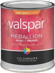 Valspar 4302 Medallion Exterior Latex Paint Semi-Gloss Tint Base 1 Qt