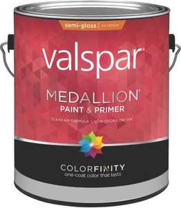 Valspar 4315 Medallion Exterior Latex Paint Semi-Gloss Black 1 Gal