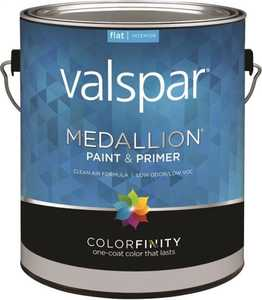Valspar 1402 Medallion Interior Latex Paint And Primer Tint Base Flat Finish Gallon