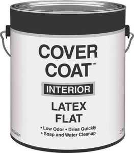 Valspar 255 Cover Coat Interior Latex Paint Flat White 1 Gal