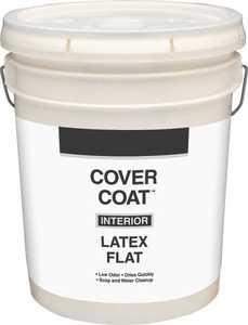 Valspar 255 Cover Coat Interior Latex Paint Flat White 5 Gal