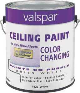 Valspar 1420 1 Gal Color Changing Latex Ceiling Paint White